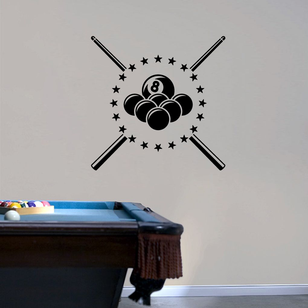 Pool billiards wall decals wall stickers wall decals sports pool billiards wall decals wall stickers amipublicfo Images