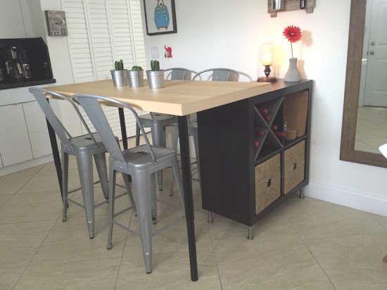 Fabriquer Un îlot De Cuisine Avec Des Meubles IKEA Hack îlot - Fabriquer un ilot de cuisine avec meuble ikea pour idees de deco de cuisine