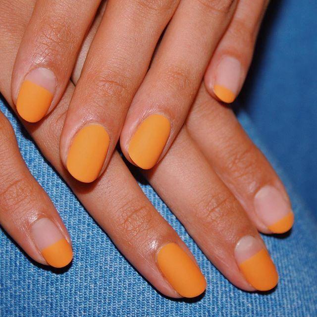Photo of hotttt! Matt oransje drøm sommer negler bronse nivå gel spiker …