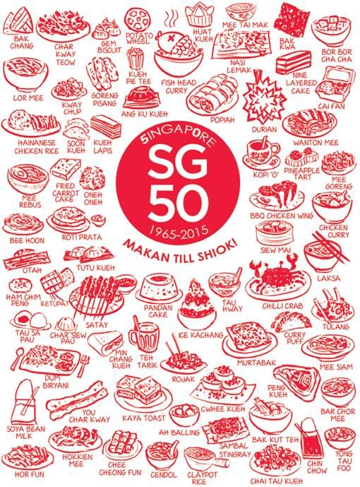 font used for sg50 logo Google Search Singapore food
