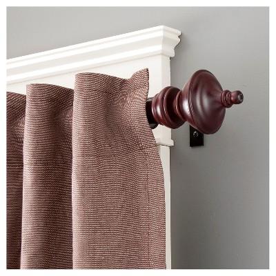 1 Rutherford Premium Decorative Window Curtain Rod Kenney Wooden Curtain Rods Curtain Rods Window Curtain Rods