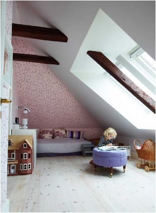 The Boo And The Boy Girls Rooms Attic Rooms Home Attic Design
