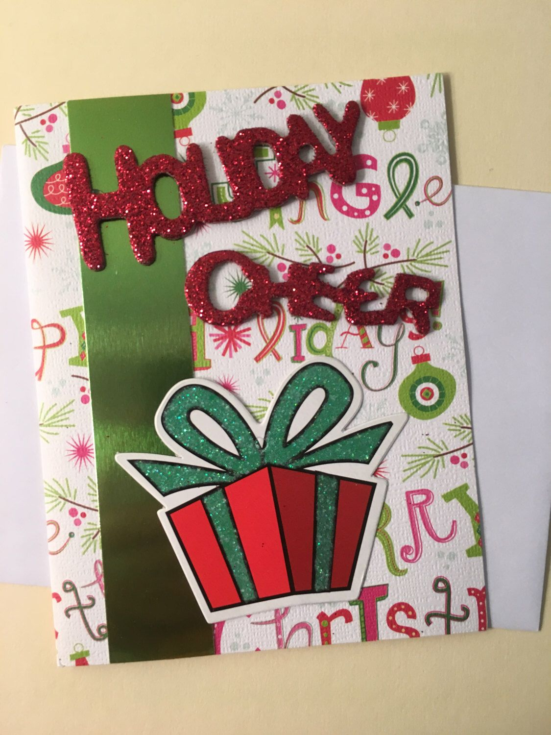 Holiday Cheer Happy Holidays Merry Christmas Card by