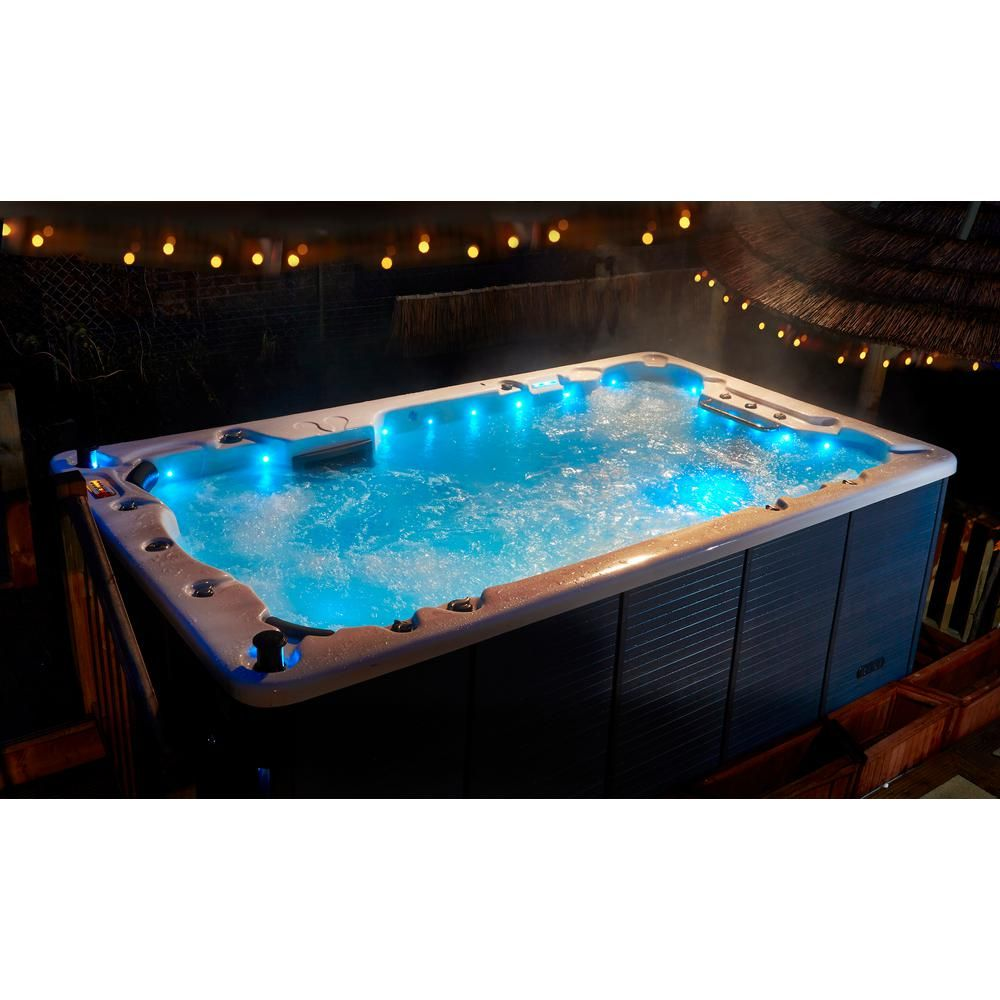 Canadian Spa Company St Lawrence 13 Ft 12 Person Swim Spa Ks 10001 The Home Depot Swim Spa Canadian Spa Hot Tub