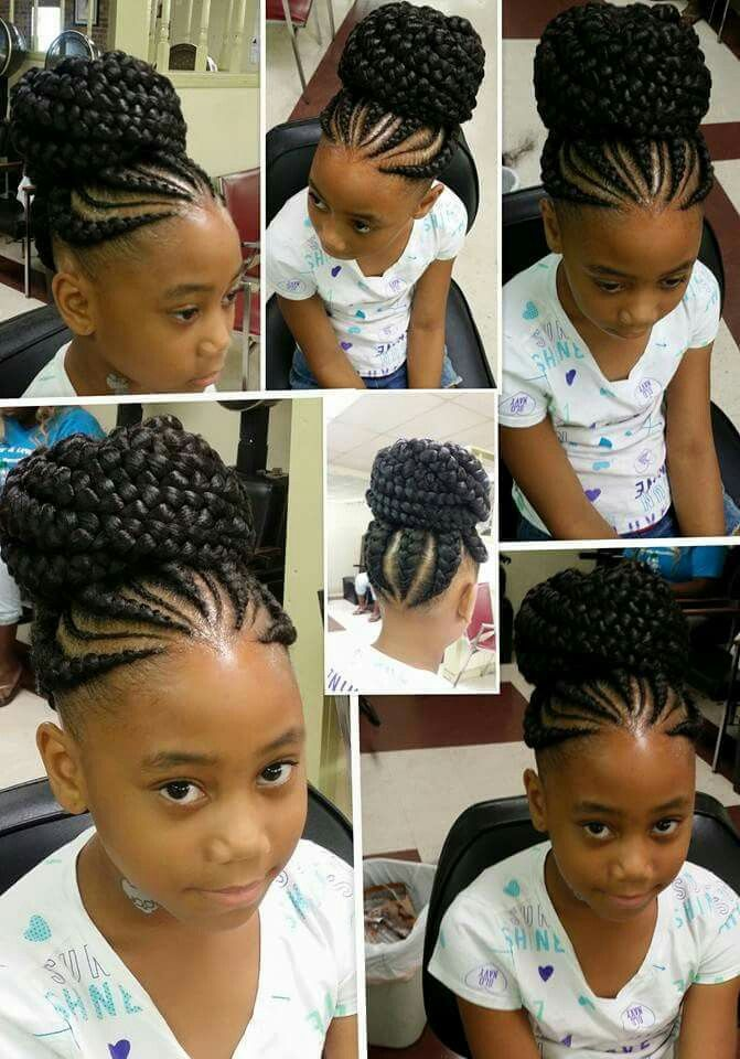 Braided Bun Hair Styles Kids Hairstyles Natural Hair Styles