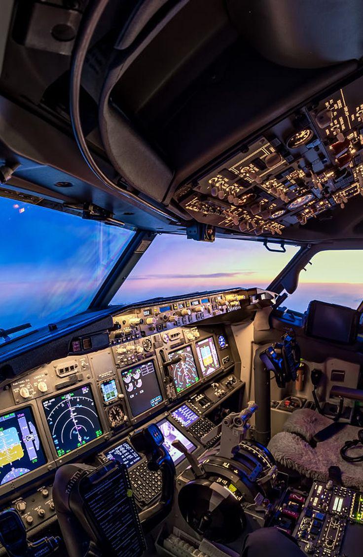 Cockpit Sunset Helicopter Cockpit Boeing 737 Cockpit