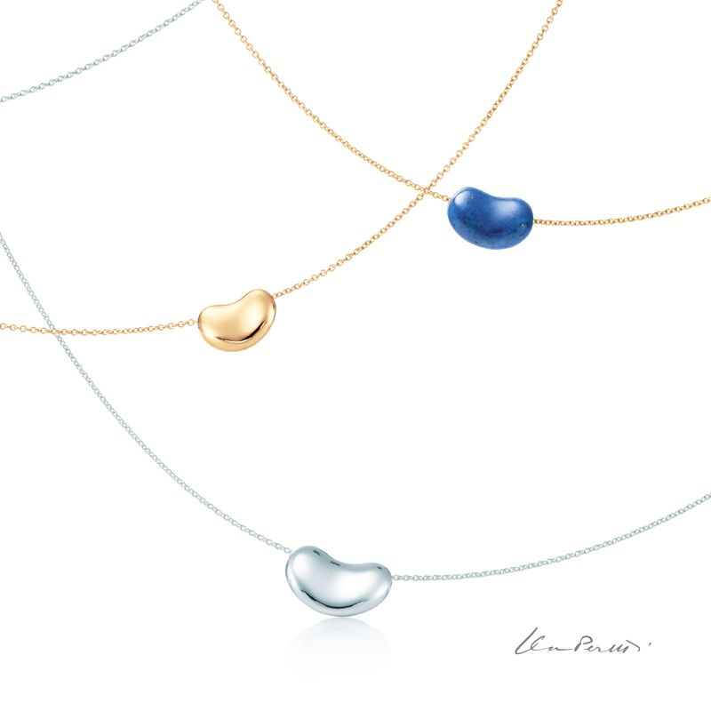 d21f48ab5 Elsa Peretti® Bean® necklaces in sterling silver, 18k gold and 18k gold  with lapis lazuli. #ElsaPeretti Love.