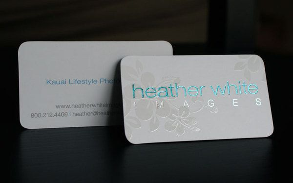 Spot uv round corner business cards full color and free design from business cards reheart Images