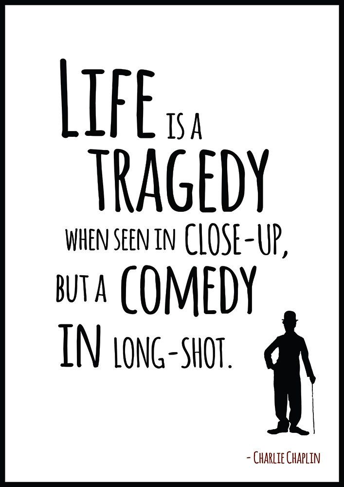 Charlie Chaplin Poster Quote Poster Wall Art Chaplin By Redpostbox New Life Quote Poster
