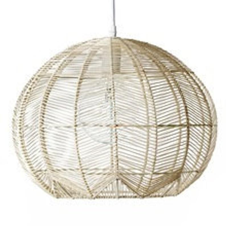 Rattan Basket Pendant Etsy In 2020 Rope Pendant Light Rattan Pendant Light Rattan Shades