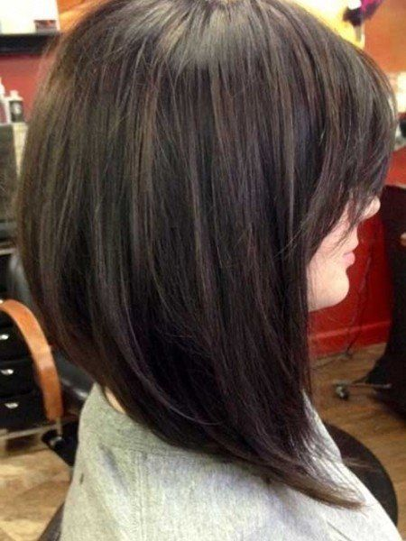 Inverted Bob Hair On Pinterest Indian Hair Color Inverted Bob Long Swing Bob Hair Styles Thick Hair Styles Medium Hair Styles