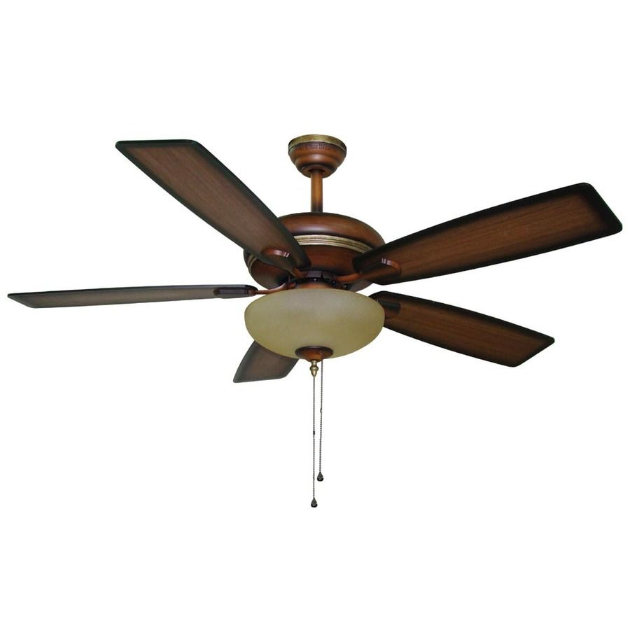 Shop Harbor Breeze 52 In Cabrillo Walnut Ceiling Fan With Light