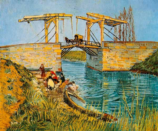 vincent van gogh the langlois bridge at arles van gogh gem lde van gogh en impressionismus. Black Bedroom Furniture Sets. Home Design Ideas