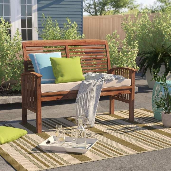Sol 72 Outdoor Redhill Loveseat Patio Loveseat Small Outdoor Spaces Outdoor Furniture