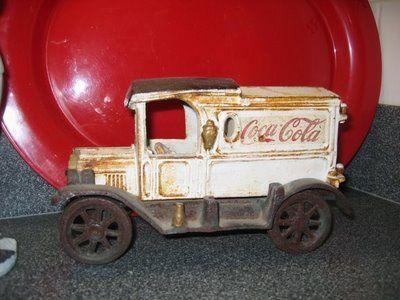 vintage toy truck - coke