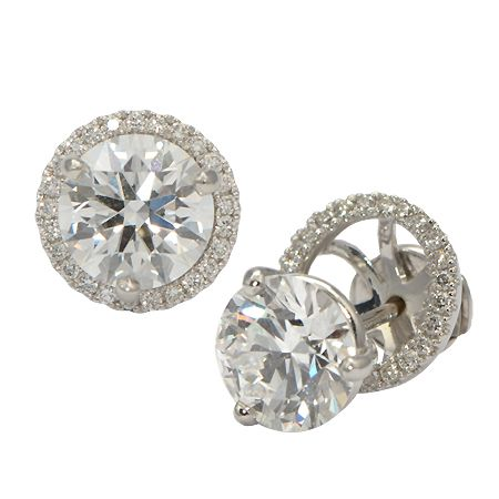 Halo Earring Jackets For Diamond Studs Wixon Jewelers