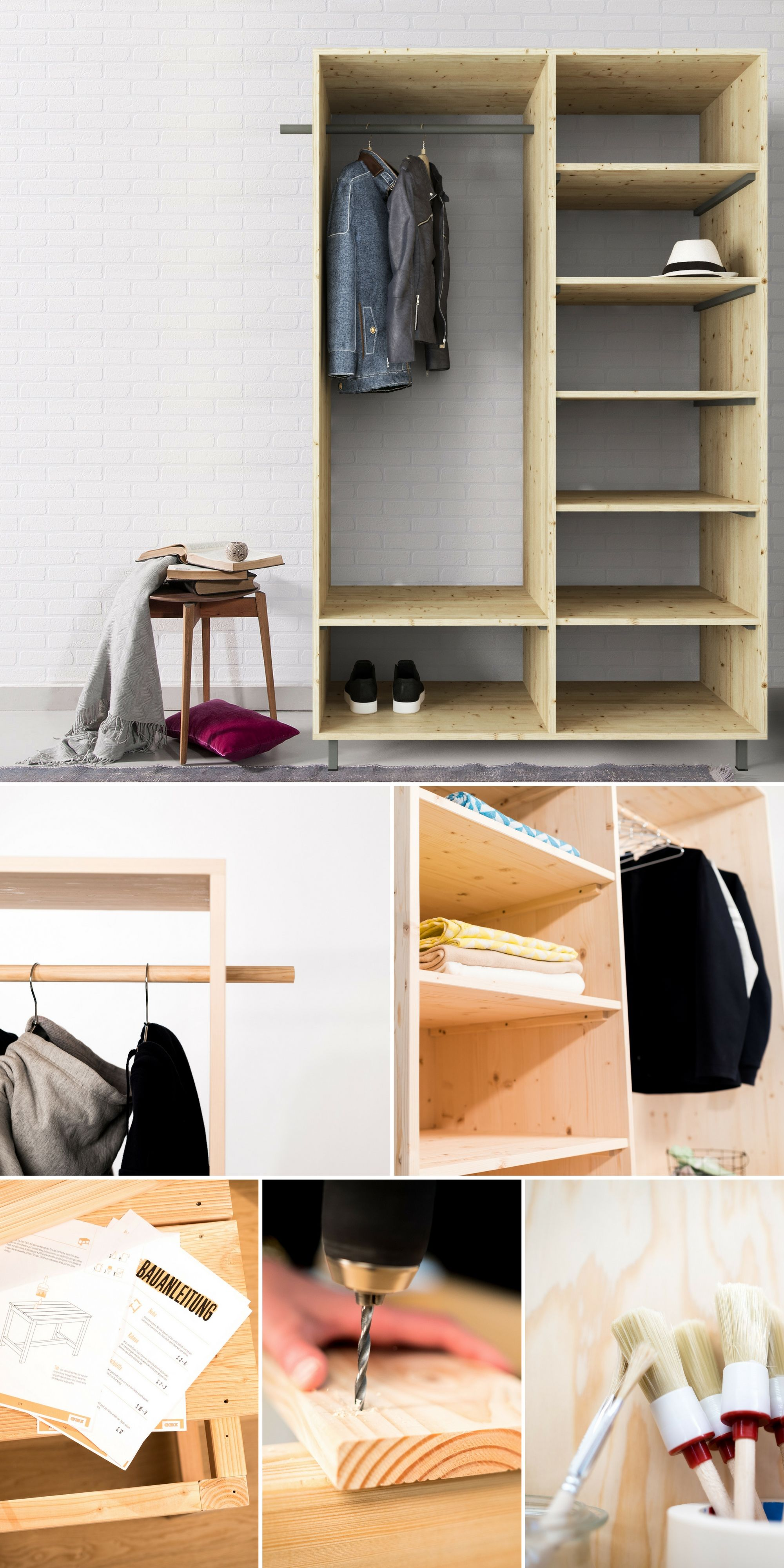 flurm bel lisa selber bauen aufbewahrung obi selbstbaum bel pinterest m bel flure und. Black Bedroom Furniture Sets. Home Design Ideas