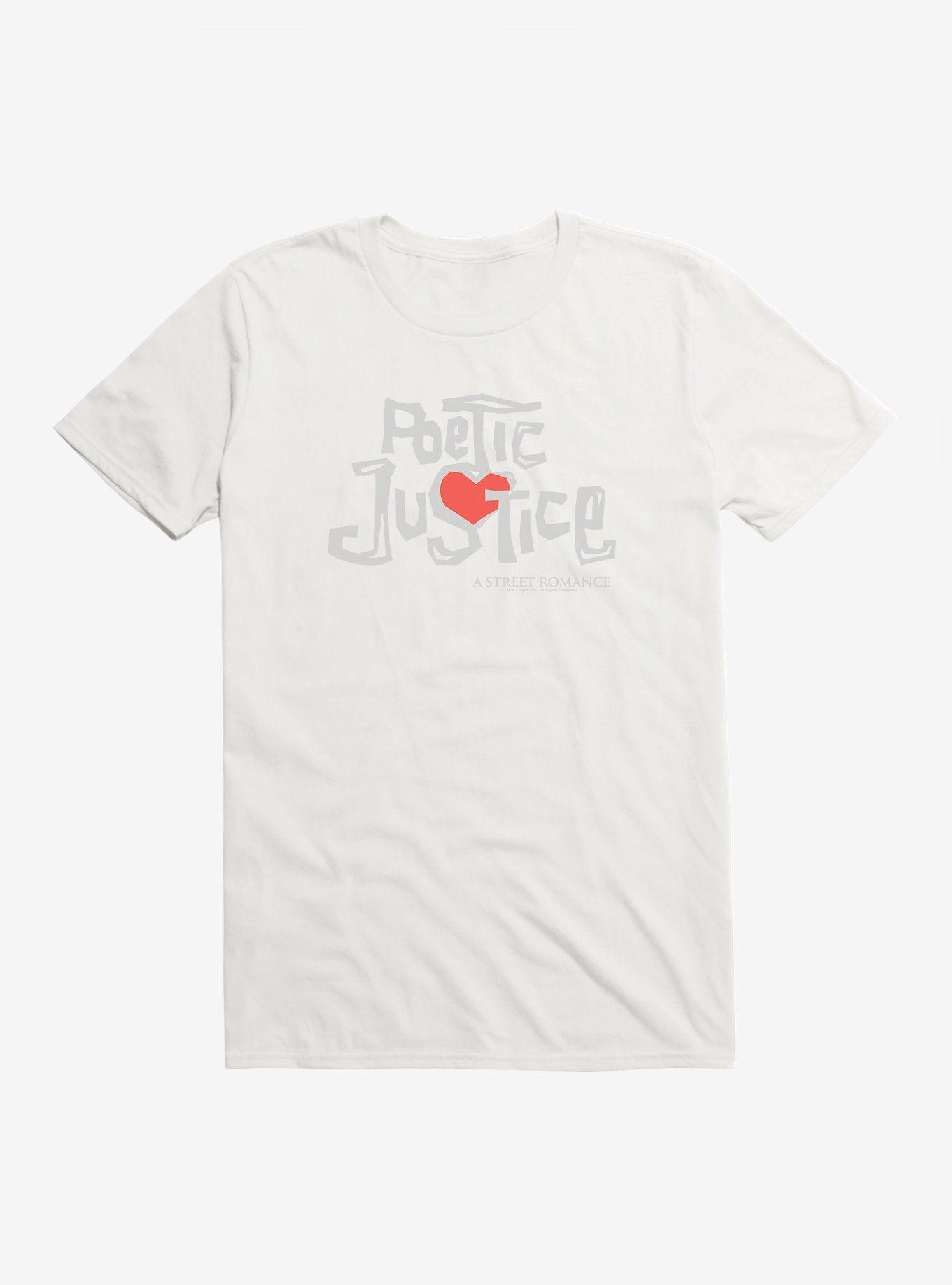 Coolteess Com Poetic Justice Title Script Stack T Shirt White Long Sleeve Sweatshirt Hoodie Poetic Justice Elf T Shirt Shirts