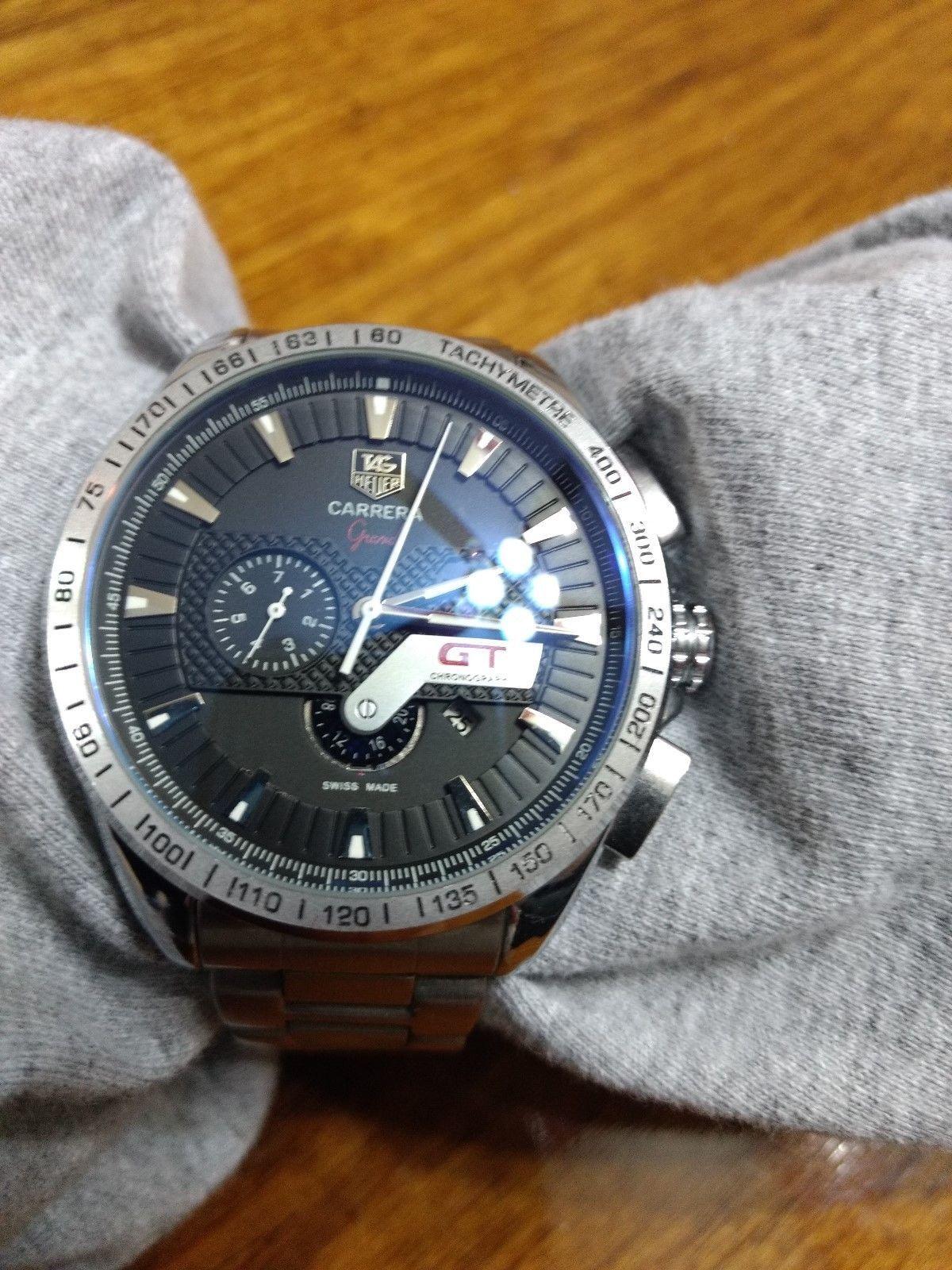 369ae8be349 Man's TAG Heuer Grand Carrera GT REF CAV511B #1660448 Chronometer Chonograph
