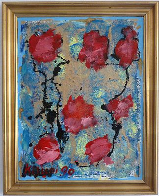Abstract-Composition-with-red-Flowers-1990