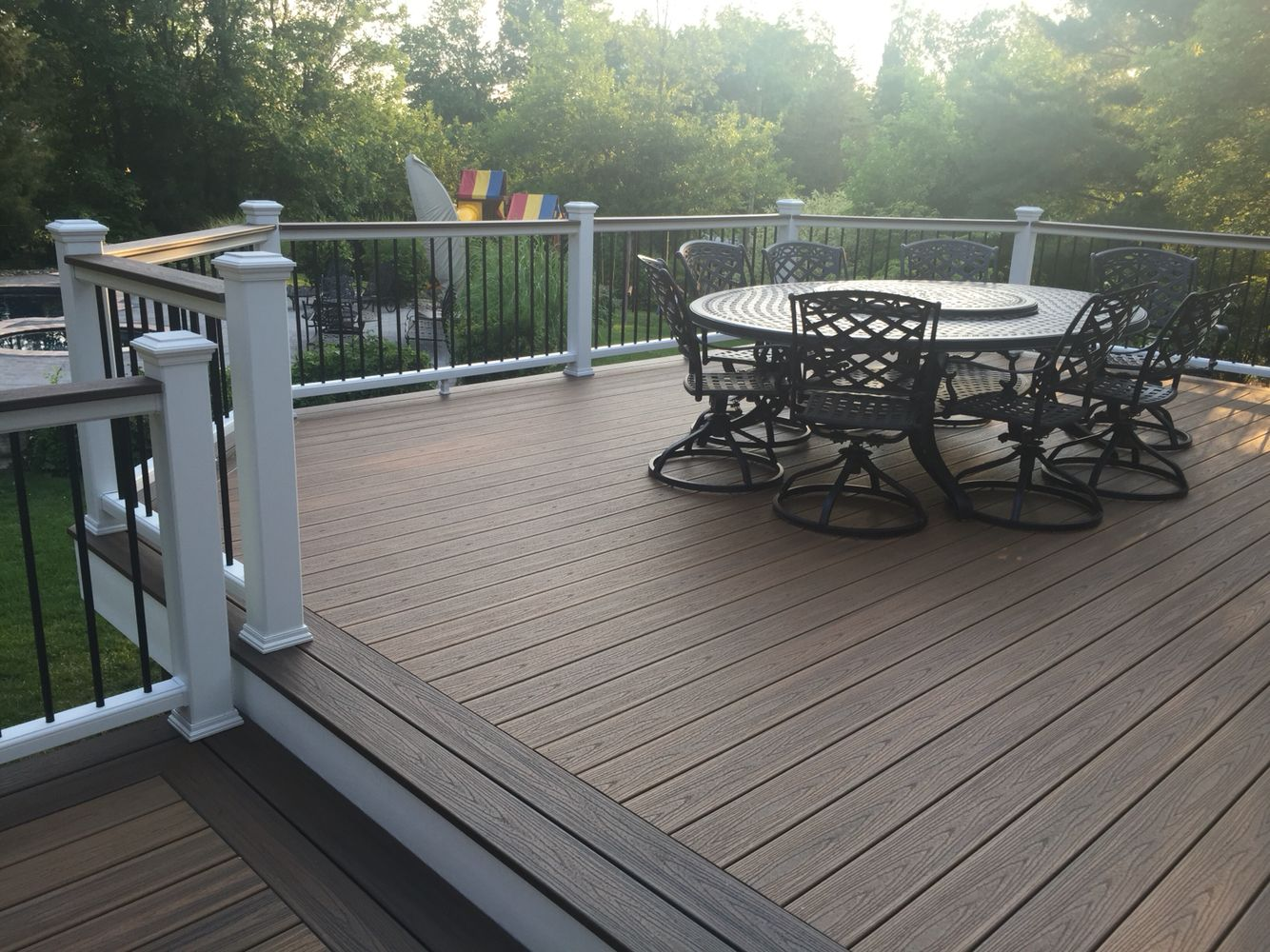 Trex transcend havana gold with spiced rum border and for Outdoor composite decking