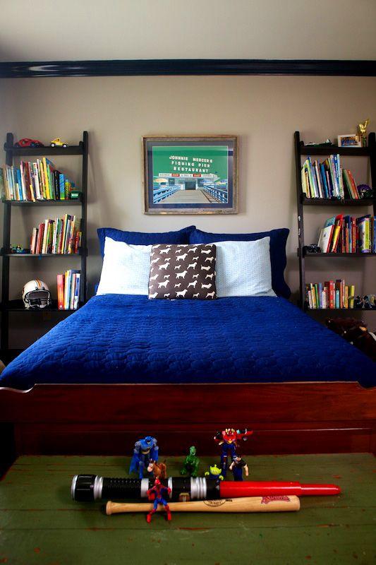 Boys Bedroom, navy, Navy Trim, Marianne Strong Interiors
