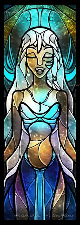 I love the movie Atlantis and this stained glass is gorgeous!