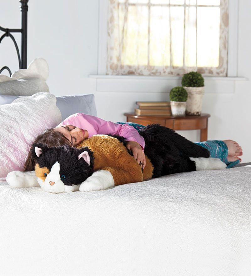 Oversized Calico Cat Stuffed Animal Body Pillow Kids