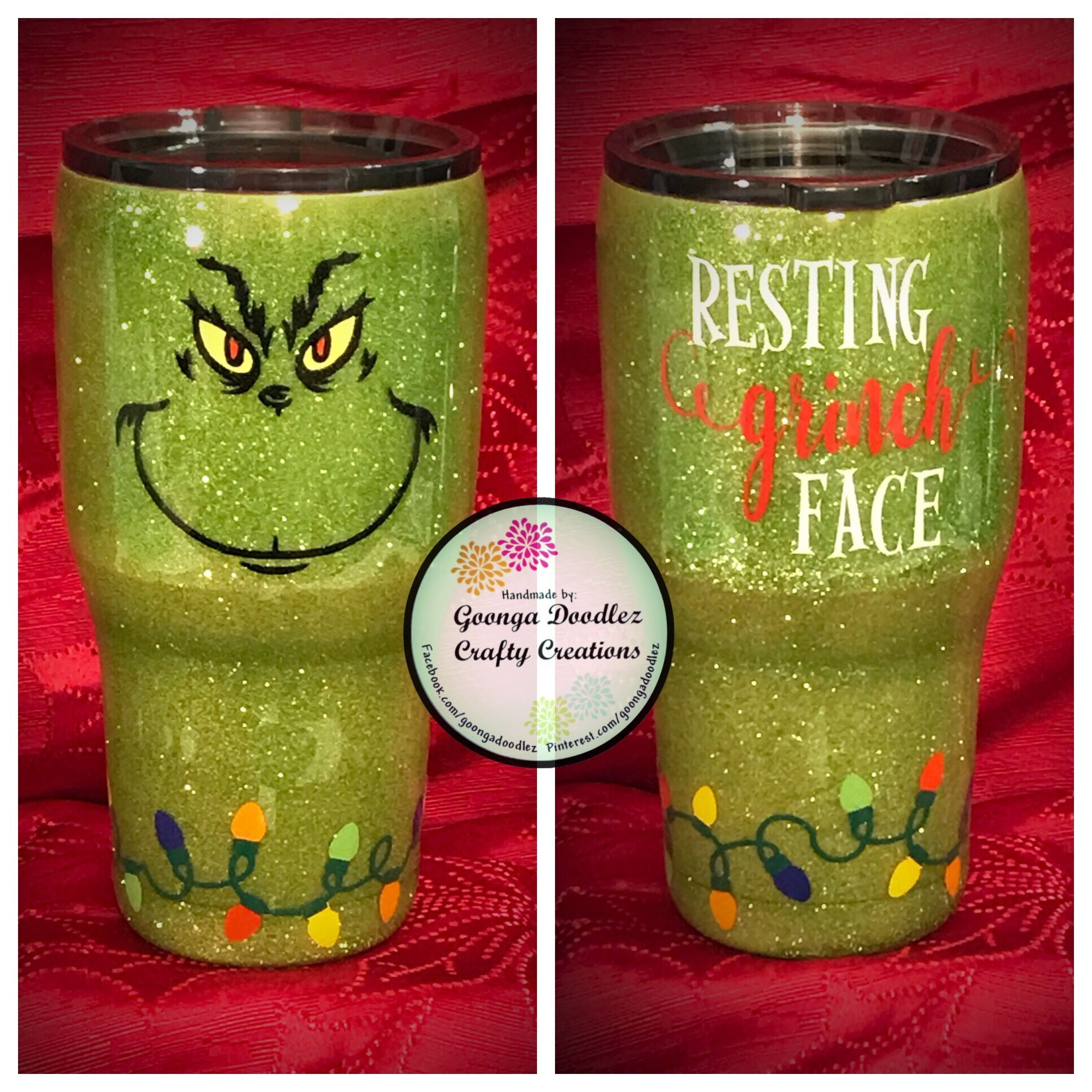 Resting Grinch Face Tumbler - Grinch - Christmas - Gift ...