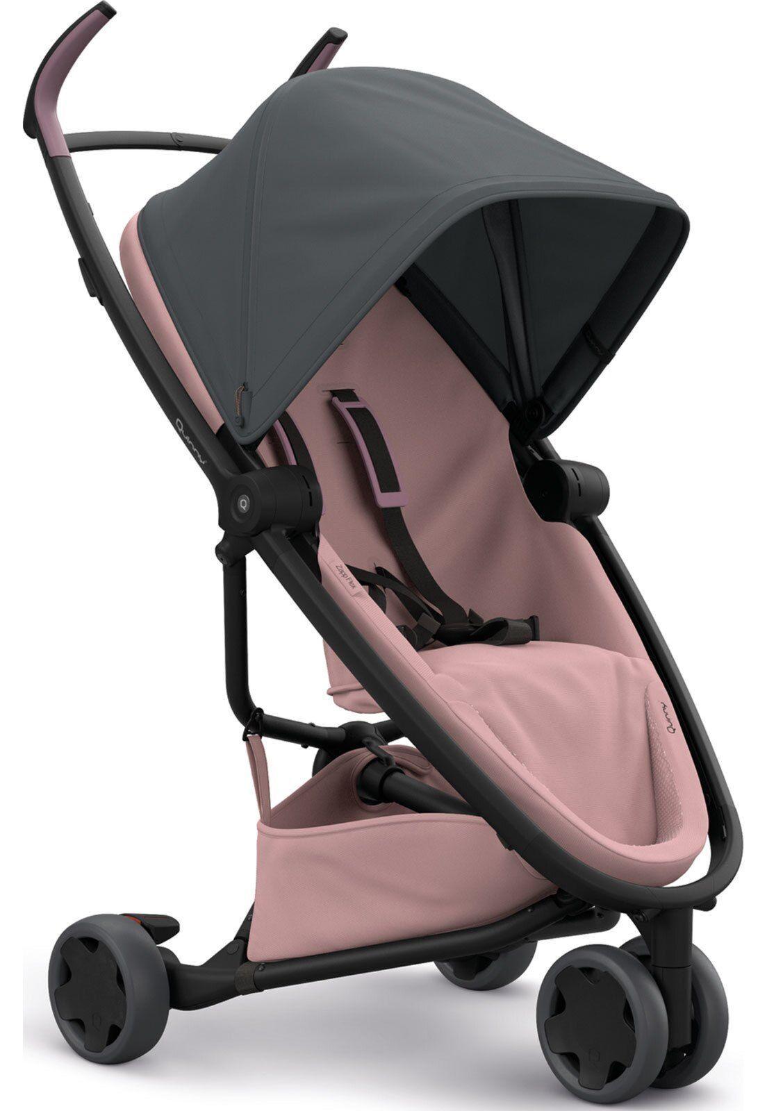 Carrinho de bebê Zapp Flex Quinny Graphite on Blush 2 Rosa