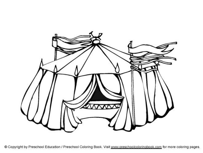 Www Preschoolcoloringbook Com Circus Coloring Page Circus Tent