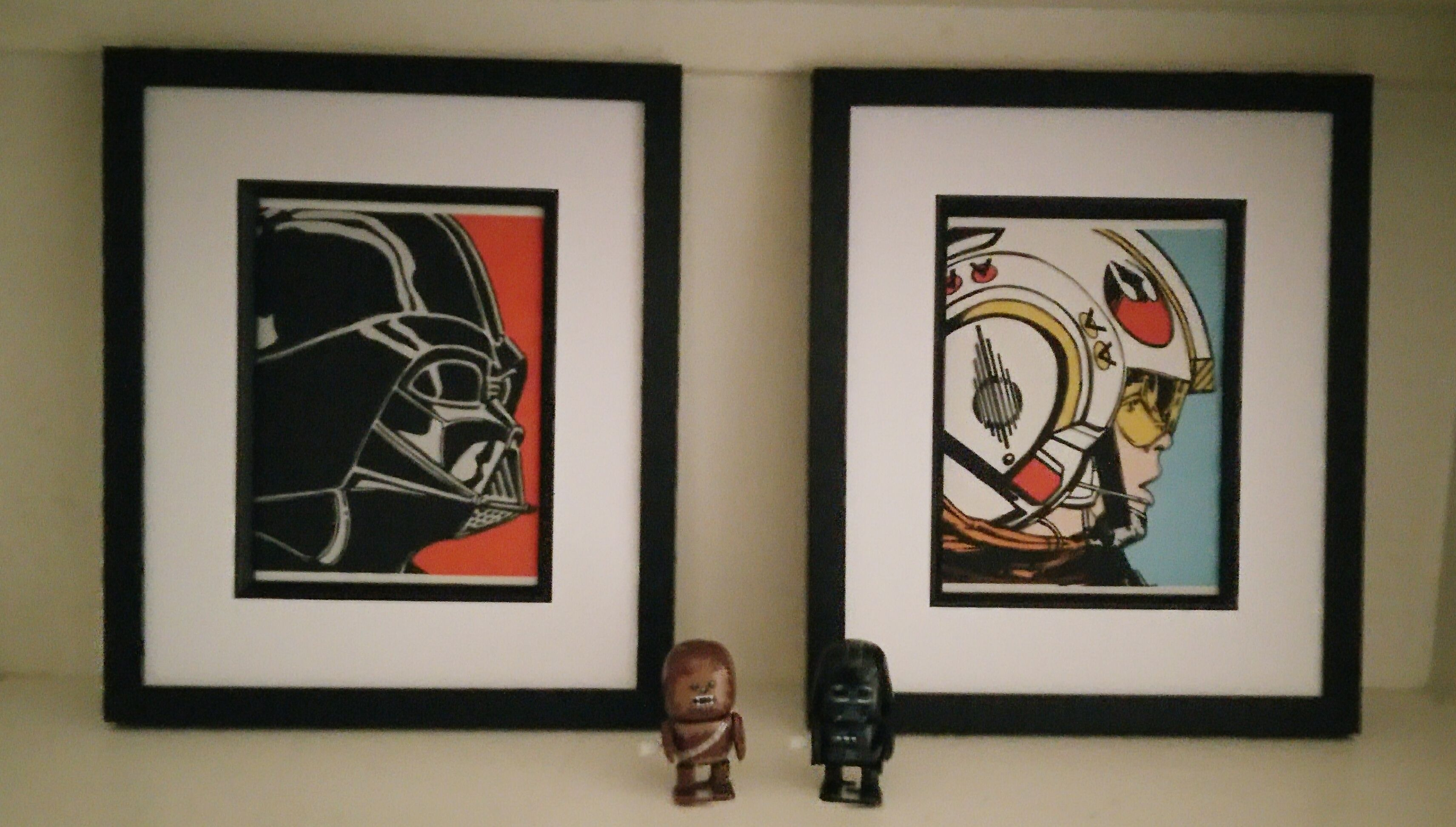 Framed Star Wars Darth Vader Fabric Artwork Fan Art Movie
