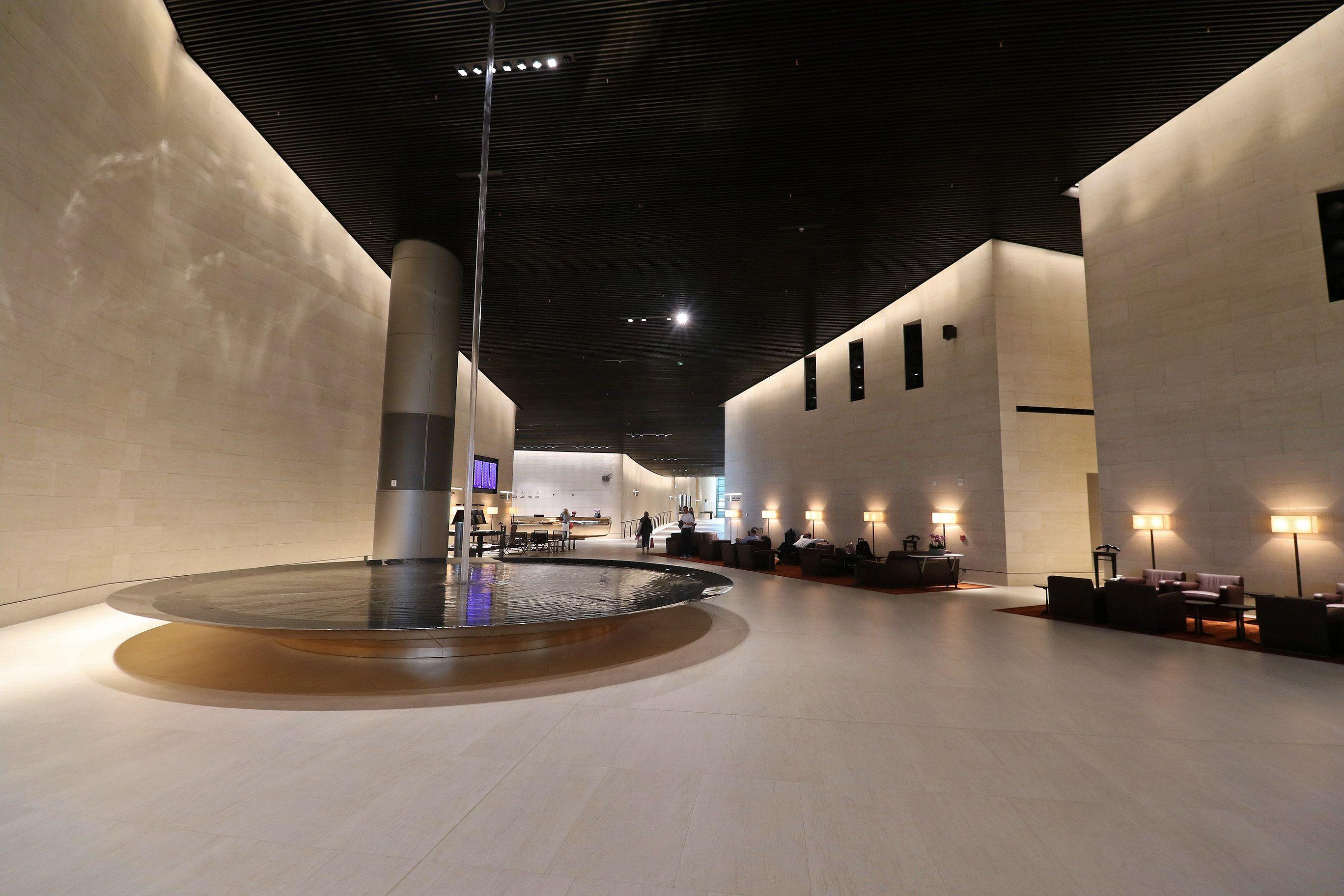 Enjoying The Beautiful Qatar Airways Al Safwa First Class Lounge In Doha