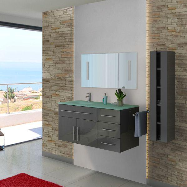 DIS945GT Meuble salle de bain gris taupe