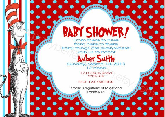 Cat In The Hat Inspired Baby Shower By Partyperfectdesign On Etsy