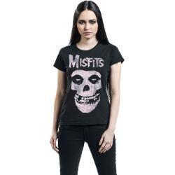 Photo of Misfits Pink Skull Damen-T-Shirt – schwarz – Offizielles Merchandise