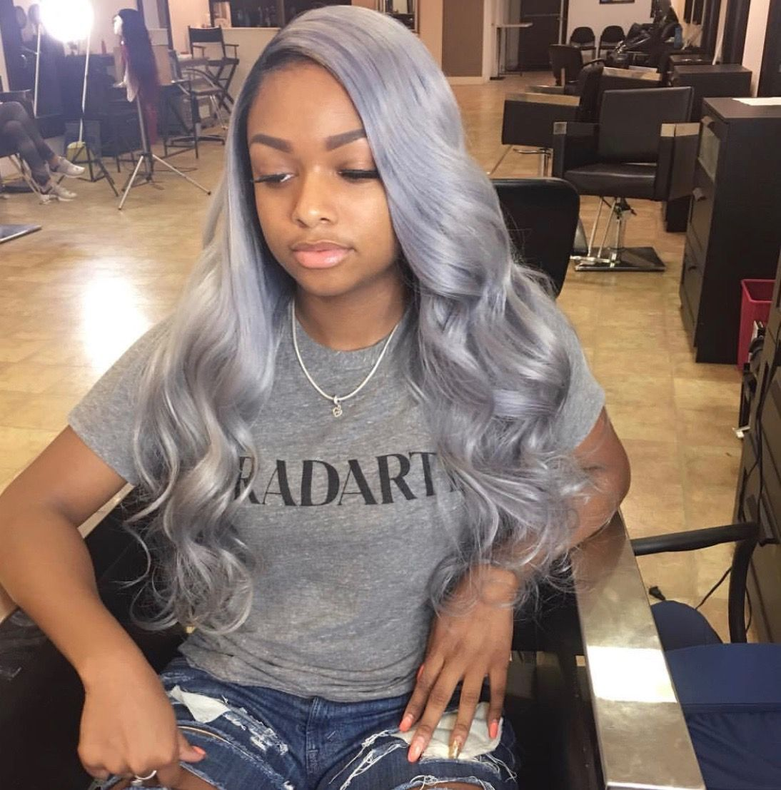 sew in weave hairstyle with color