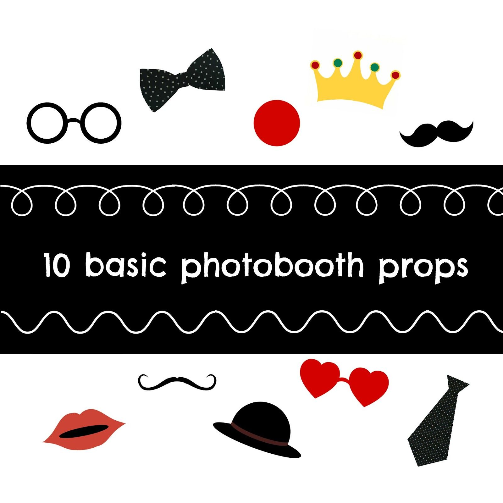 10 basic free printable potobooth props for making your parties more enjoyable - The Optimistic Side
