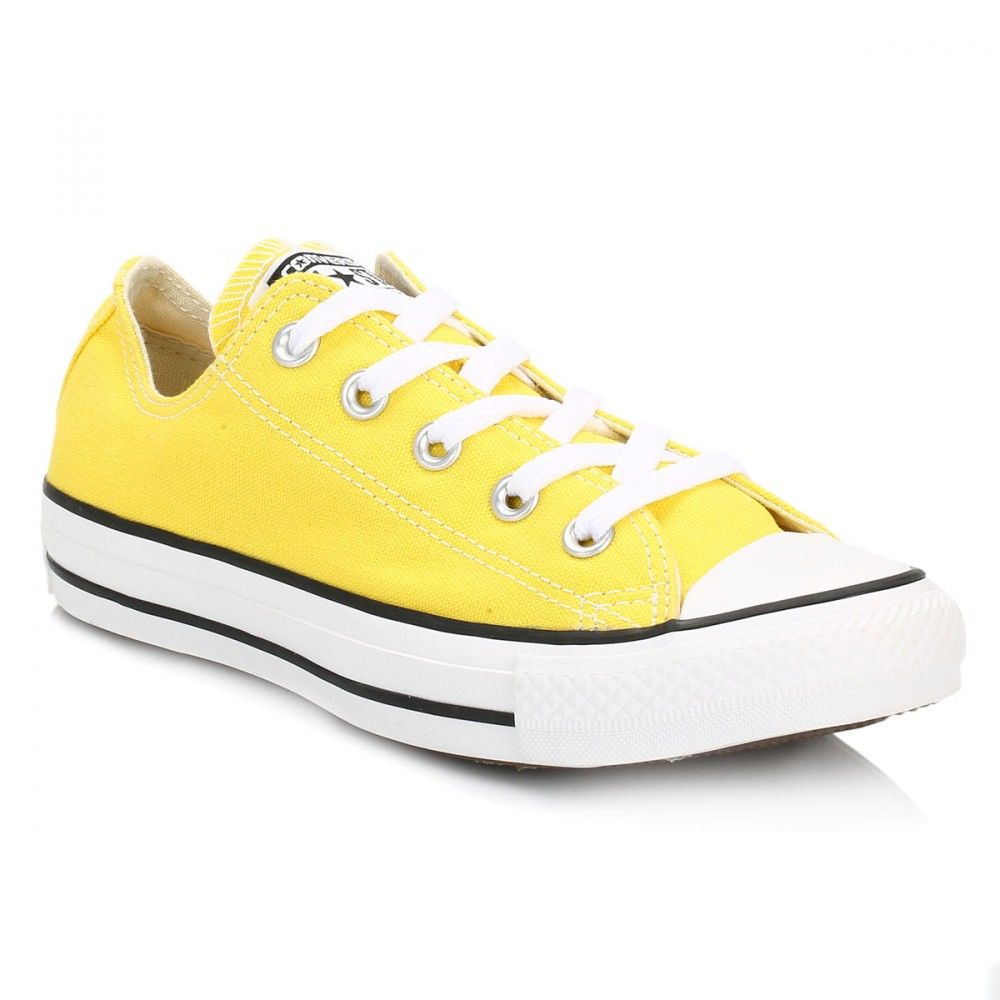 7fc2d3adc663 Converse Womens Citrus Yellow All Star Low Trainers