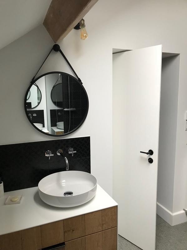 Miroir Barbier Noir L 53 X H 53 Cm Leroy Merlin Envie De