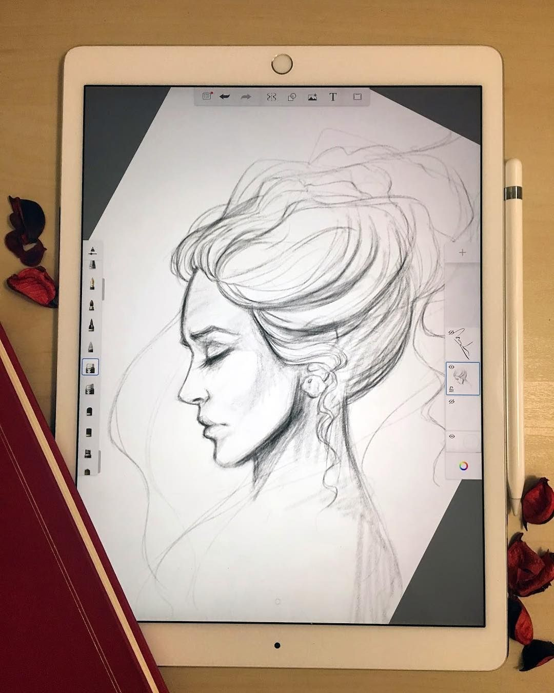 Stunning drawings with a stylus on the tablet of a Russian artist