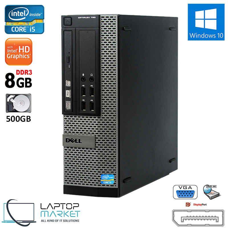 Dell Optiplex 790 Sff Intel I3 8gb Ram 500gb Hdd Dvd Rw Win10 Vga 8gb Dell Optiplex