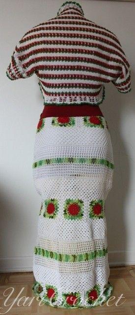 Falda y bolero a crochet