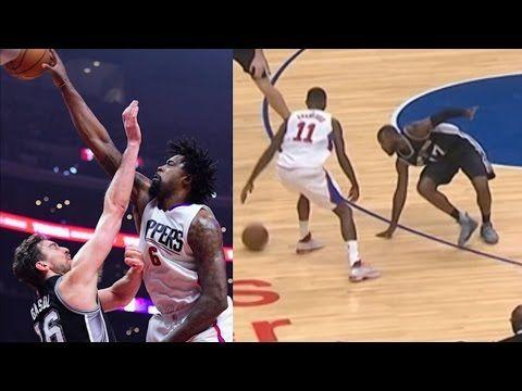 Jamal Crawford Ankle Breaker! DeAndre Jordan Dunks on Pau Gasol! Spurs v...