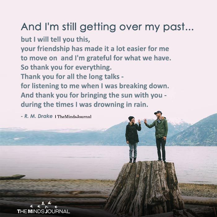 And I'm Still Getting Over My Past