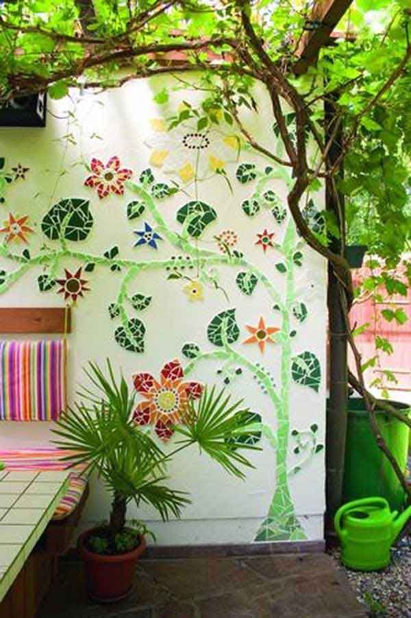 Mosaic projects that can turn your garden into a work of ar if youre not good at painting you can still give your wall a complete make over by this do it yourself wall art mosaic workwithnaturefo