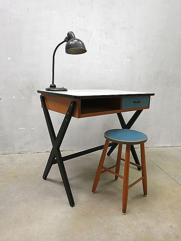 Coen de vries vintage Dutch design bureau desk fifties