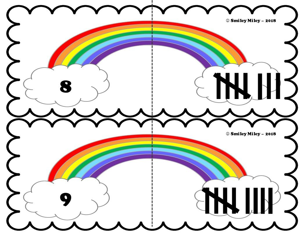 Rainbow Tally Mark Math Center
