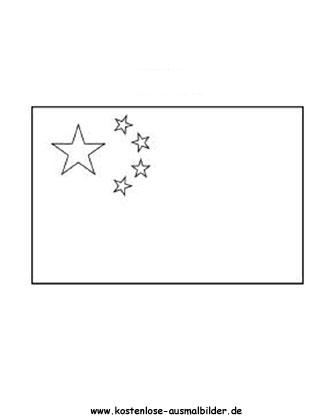 Ausmalbild Fahnen Flagge China Fahnen China Flagge Ausmalbild