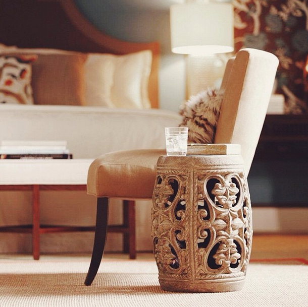 Elegant Transition Decor Accents By Re Purposing Them In New Spaces. Love This Garden  Stool